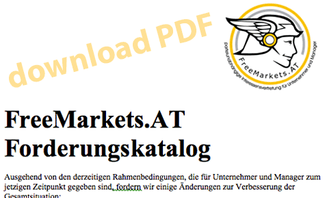 FreeMarkets.AT - Forderungskatalog als PDF